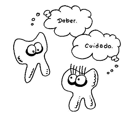 Dibujo de Conversación de dientes para Colorear