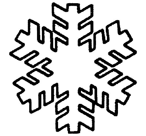 Dibujo de Copo de nieve para Colorear