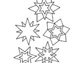 Dibujo de Copos de nieve 1 para colorear