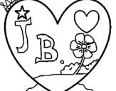 Dibujo de Corazón 9 para colorear