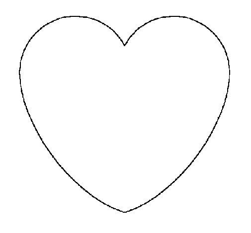 Dibujo de Corazón para Colorear