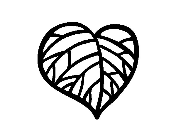 El Dibujo Mas Bonito Del Mundo Para Colorear: Dibujo De Corazón Ecológico Para Colorear