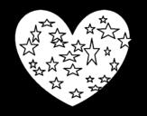 Dibujo de Corazón estrellado para colorear
