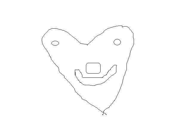 Dibujo de Corazón simpático para Colorear