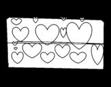 Dibujo de Corazones brillantes para colorear