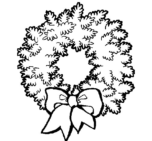 Dibujo de Corona de navidad para Colorear  Dibujosnet