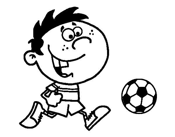 Dibujo de Correr con la pelota para Colorear
