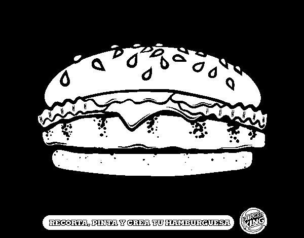 Dibujo de Crea tu hamburguesa para Colorear