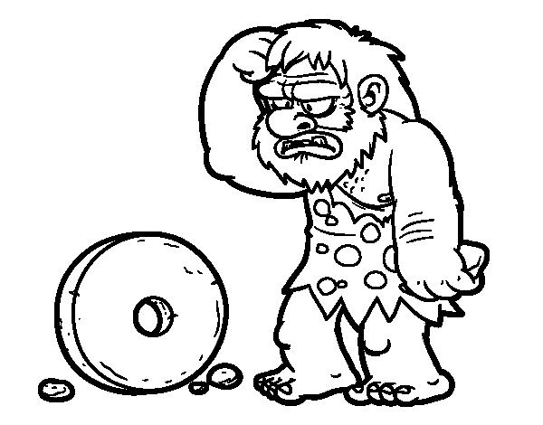 Dibujo de creaci n de la rueda para colorear for Dibujo de una piedra para colorear