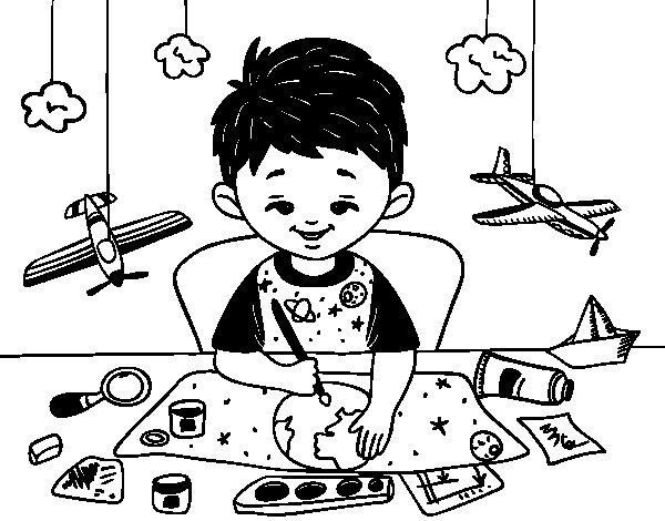 Dibujo de Creatividad infantil para Colorear