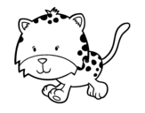 Dibujo de Cría de guepardo corriendo para colorear