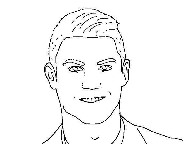 Dibujo de Cristiano Ronaldo cara para Colorear  Dibujosnet