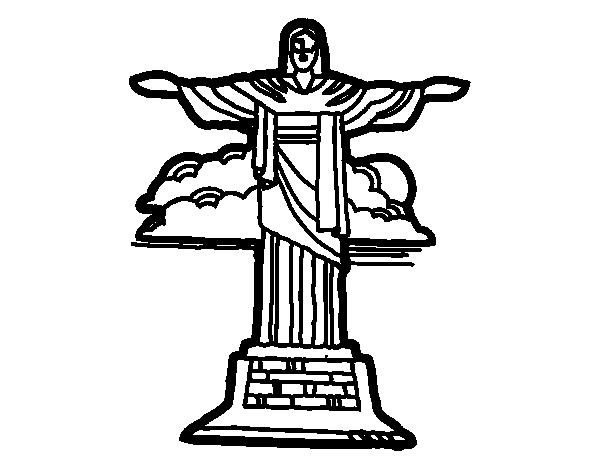 Dibujo de Cristo Redentor para Colorear