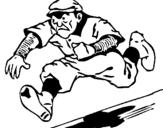 Dibujo de Cuadrangular de béisbol para colorear