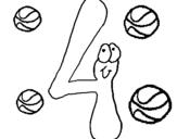Dibujo de Cuatro para colorear