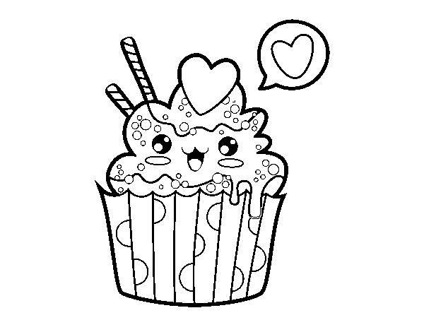 Cupcake Kawaii on Dibujos Kawaii Para Colorear