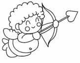 Dibujo de Cupido 1 para colorear