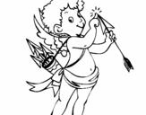 Dibujo de Cupido 2 para colorear