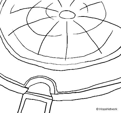 Dibujo de Cúpula del Panteón para Colorear