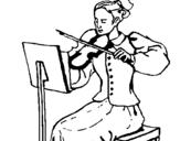 Dibujo de Dama violinista