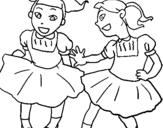 Dibujo de Damas de honor para colorear