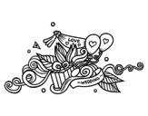 Dibujo de Decoración de bodas para colorear