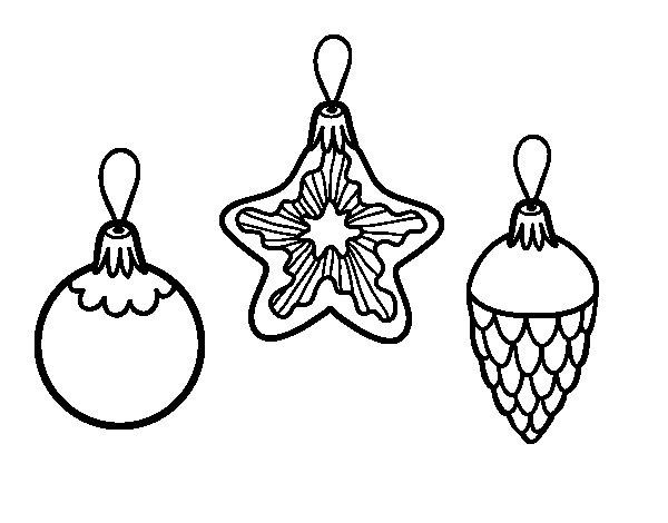 Adornos De Navidad Dibujos Para Colorear: Dibujo De Decoraciones De Navidad Para Colorear