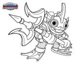Dibujo de Deep Dive Gill Grunt para colorear