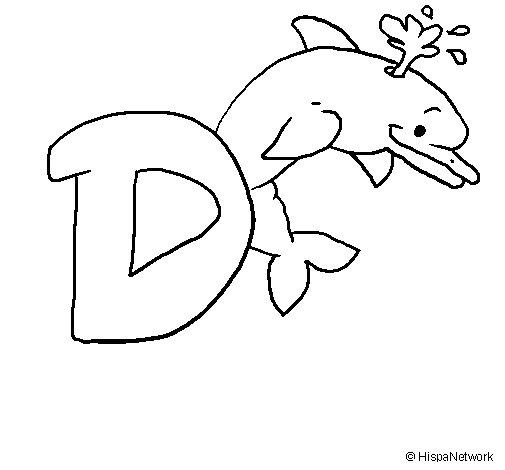 Dibujo de Delfín 1 para Colorear