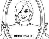 Dibujo de Demi Lovato estrella del POP para colorear