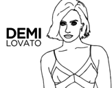 Dibujo de Demi Lovato para colorear