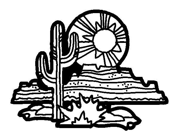 Dibujo de Desierto de Colorado para Colorear
