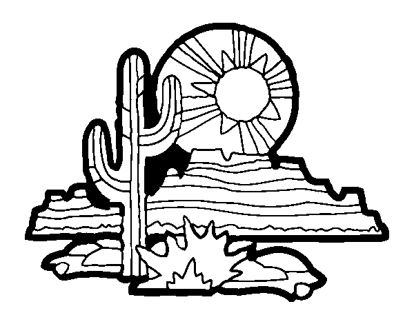 Dibujo de Desierto de Colorado para Colorear  Dibujosnet