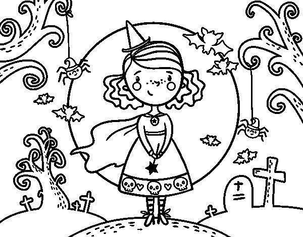 Dibujo de Día de Halloween para Colorear - Dibujos.net