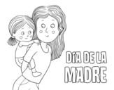 Dibujo de Día de la Madre para colorear