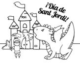 Dibujo de Dia de San Jorge para colorear