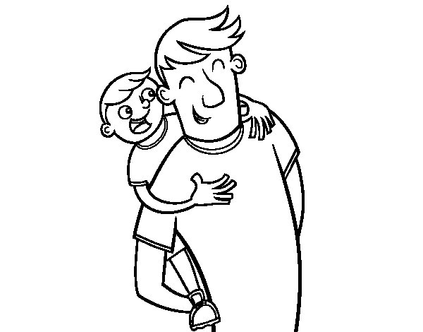 Dibujo de Día del padre para Colorear