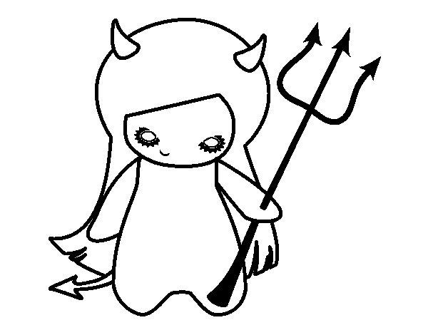 Dibujo de Diablesa para Colorear