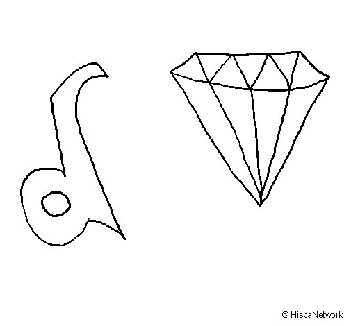 List of Synonyms and Antonyms of the Word: diamante dibujo