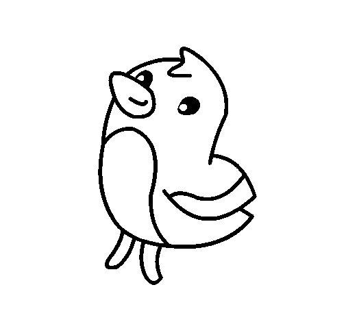 Dibujo de Dibu el pollito para Colorear