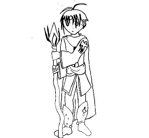 Dibujo de Dibujo manga 1 para Colorear