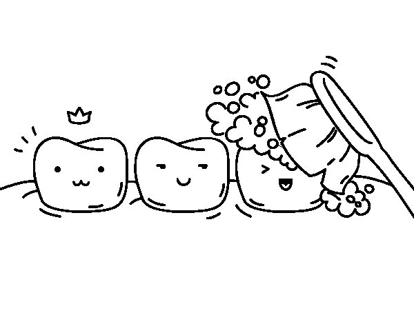 Dibujo de Dientes para Colorear  Dibujosnet