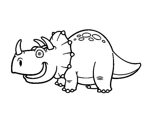 Dibujo de Dino Triceratops para Colorear