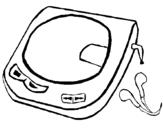 Dibujo de Discman para colorear