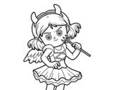 Dibujo de Disfraz de diablesa para colorear