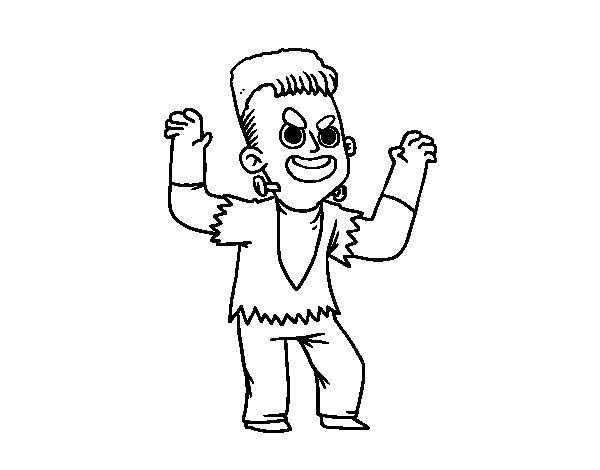 Dibujo de Disfraz de Frankenstein para Colorear