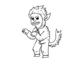Dibujo de Disfraz de hombre lobo