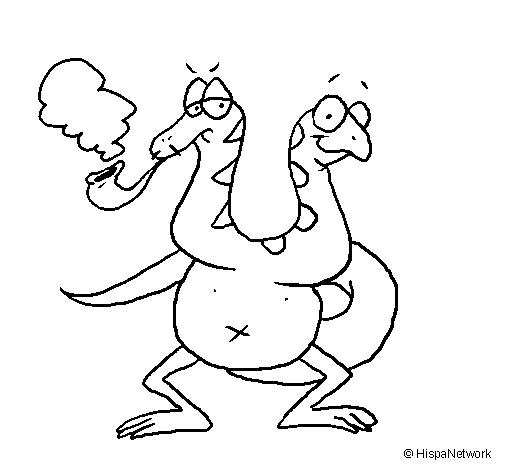 Dibujo de Doble cabeza de serpiente para Colorear  Dibujosnet