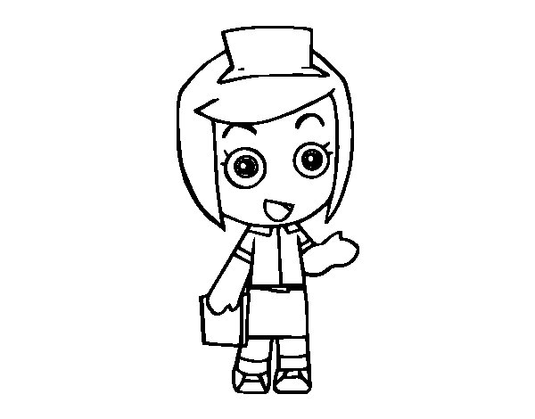 Dibujo de Doctora para Colorear