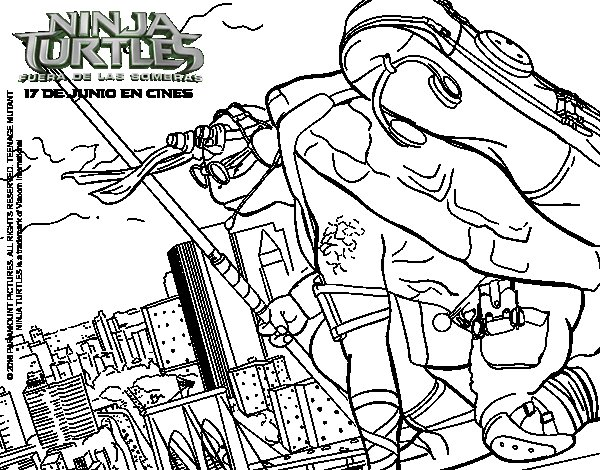 Dibujo de Donatello de Ninja Turtles para Colorear